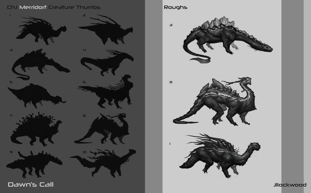 Docile creature roughs.jpg