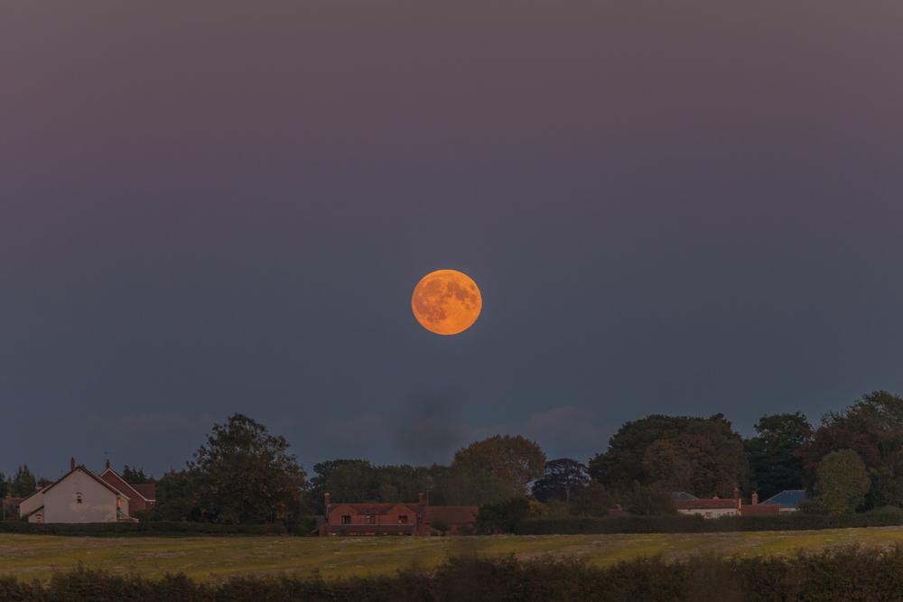 Super Blood Moon Rise over North Norfolk September 27th 2015