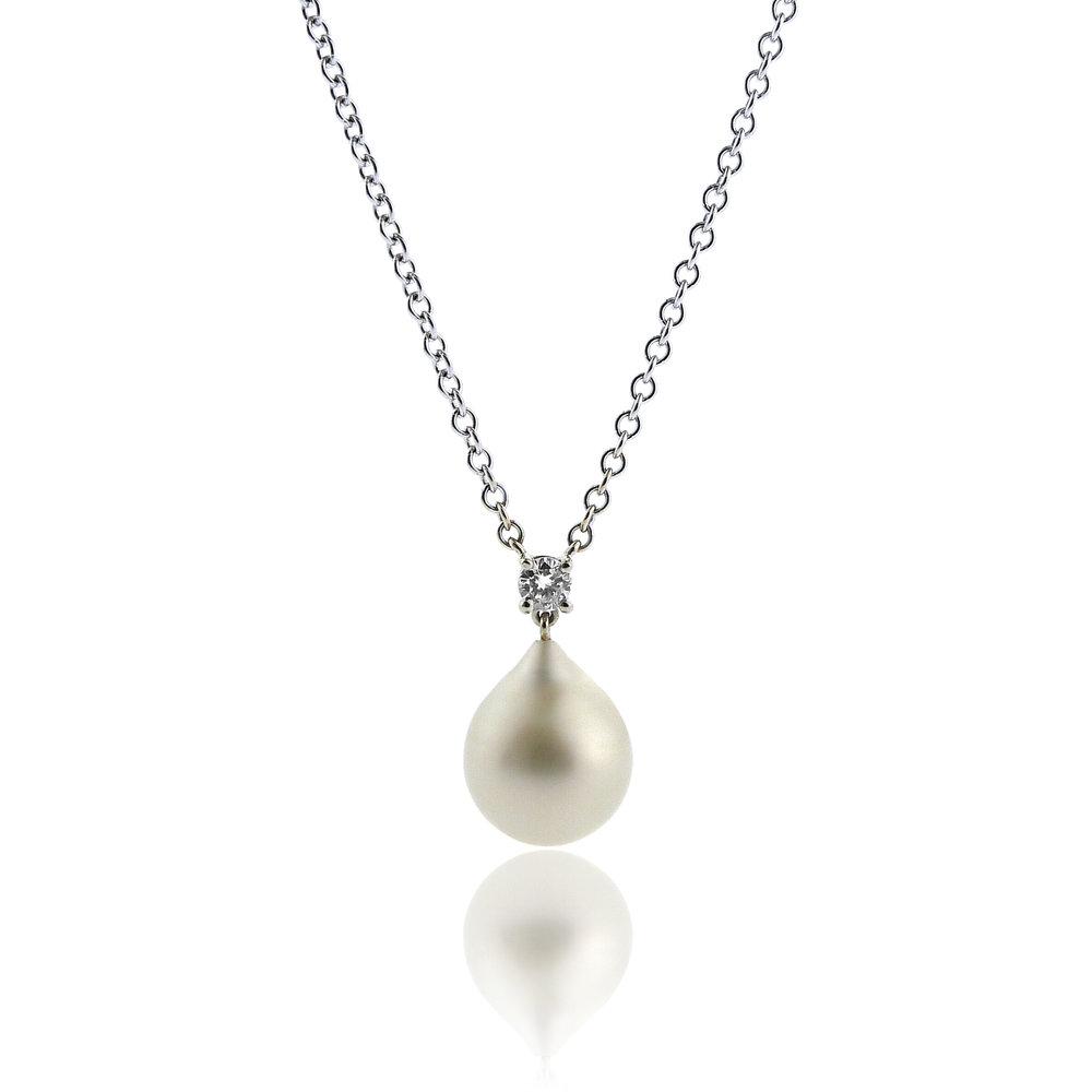 South Sea Pearl & Diamond Pendant, $1,325