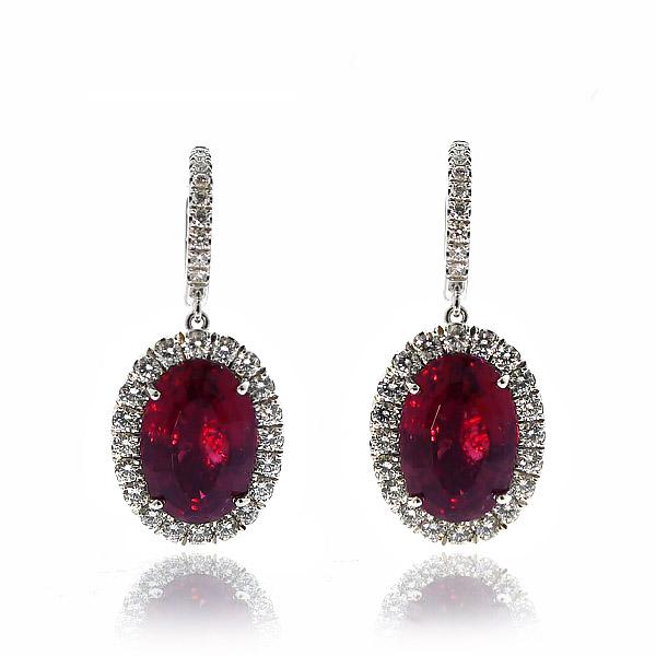 Red Tourmaline Earrings, $12,500