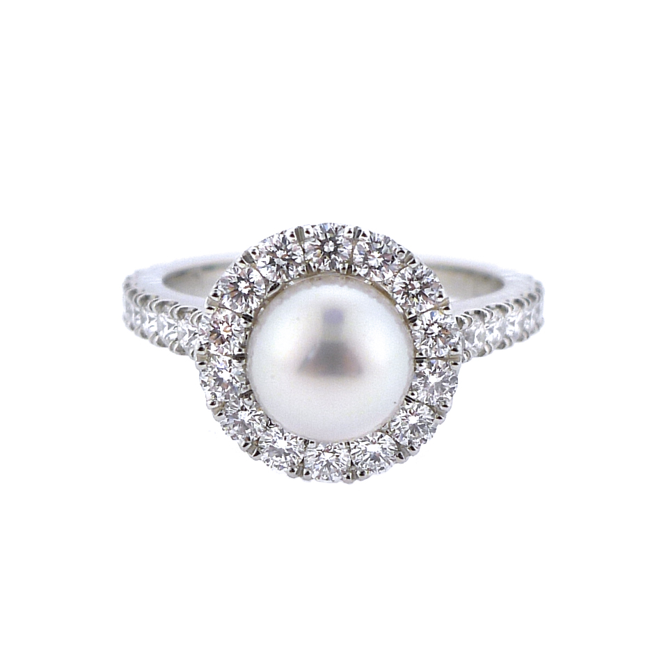 Pearl and Diamond Ring, $5,200