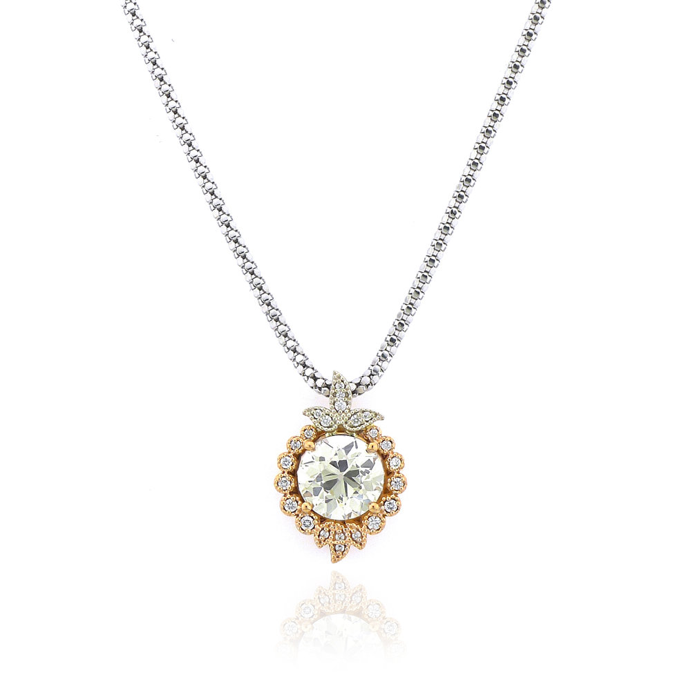 Antique Style Diamond Pendant, $13,600