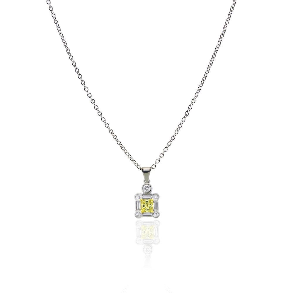 Yellow Diamond Pendant, $3,850