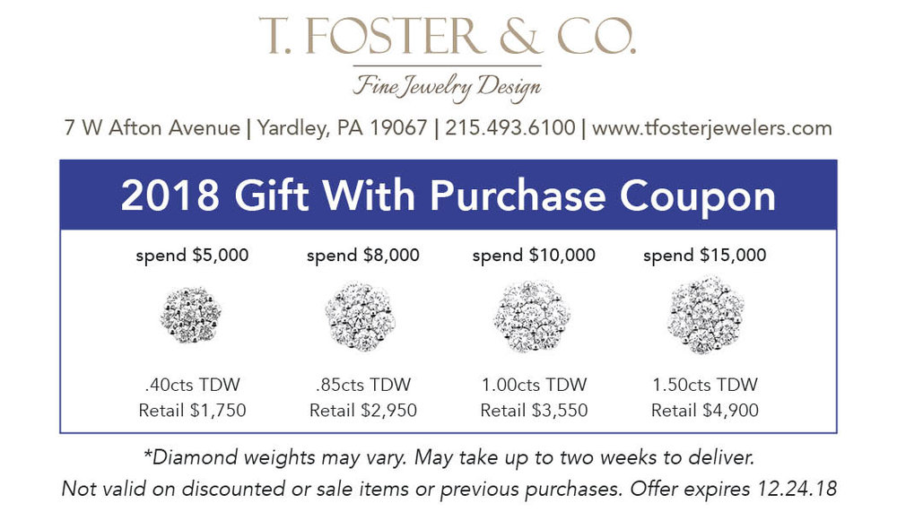 "Holiday Gift With Purchase - Add some extra sparkle to your holidays this year with ourexclusive, newly designed ""flower"" cluster earrings, yours free with any purchase of $5,000 or more! There are four sizes to choose from—your purchase amount determines the size."