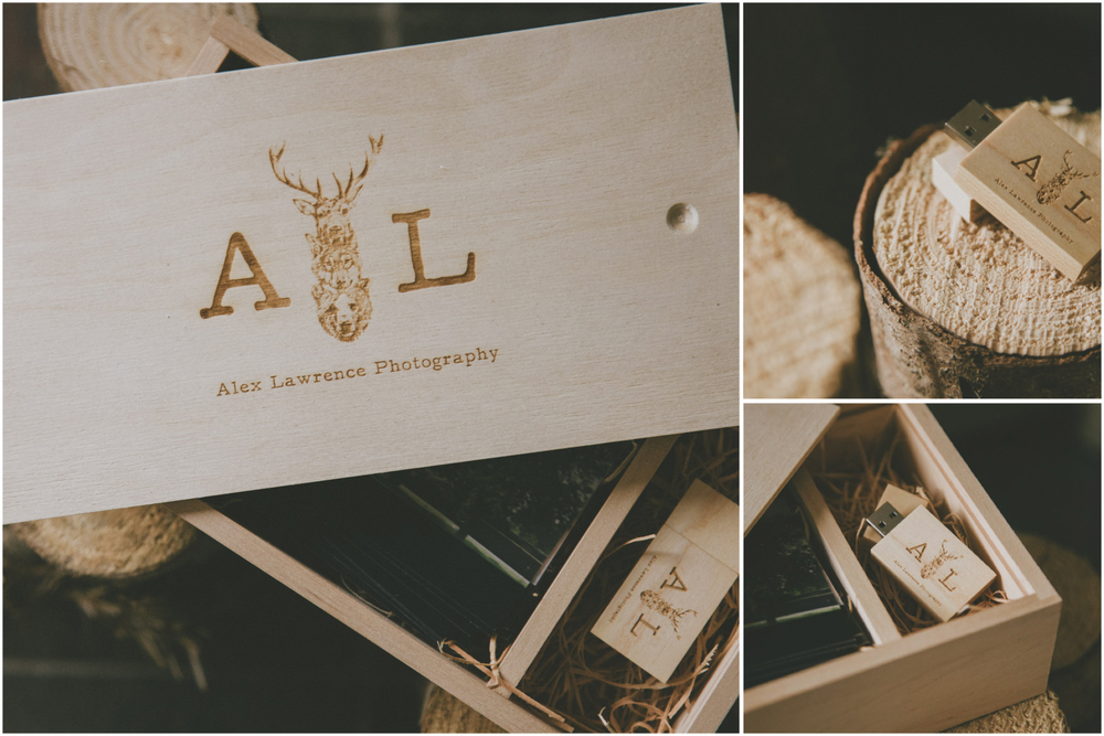 All packages will be delivered in your own branded custom made wooden usb and print storage box.