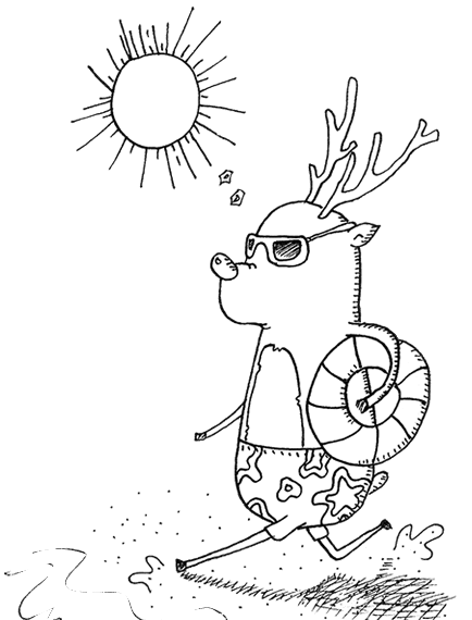 "Ever wonder what reindeers do the rest of the year? Find out in ""Ooh Odd Zoo."""