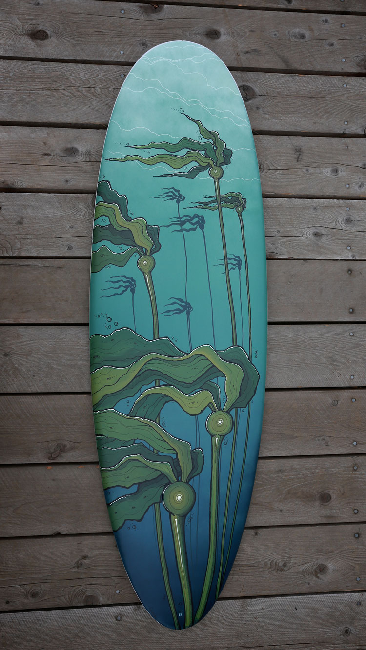 Fluid Forest - Surfboard Art