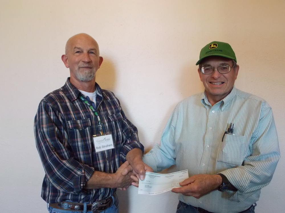 Bob Struthers, of Grain Train, and Marvin Best, of Best Farm.