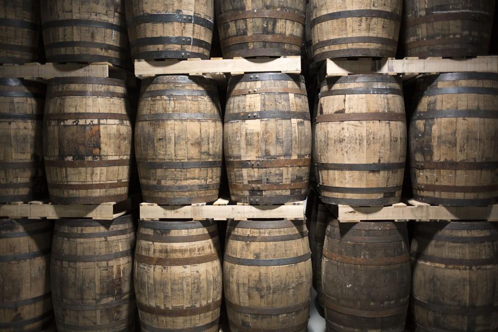 Barrel aging at Stonecutter Spirits