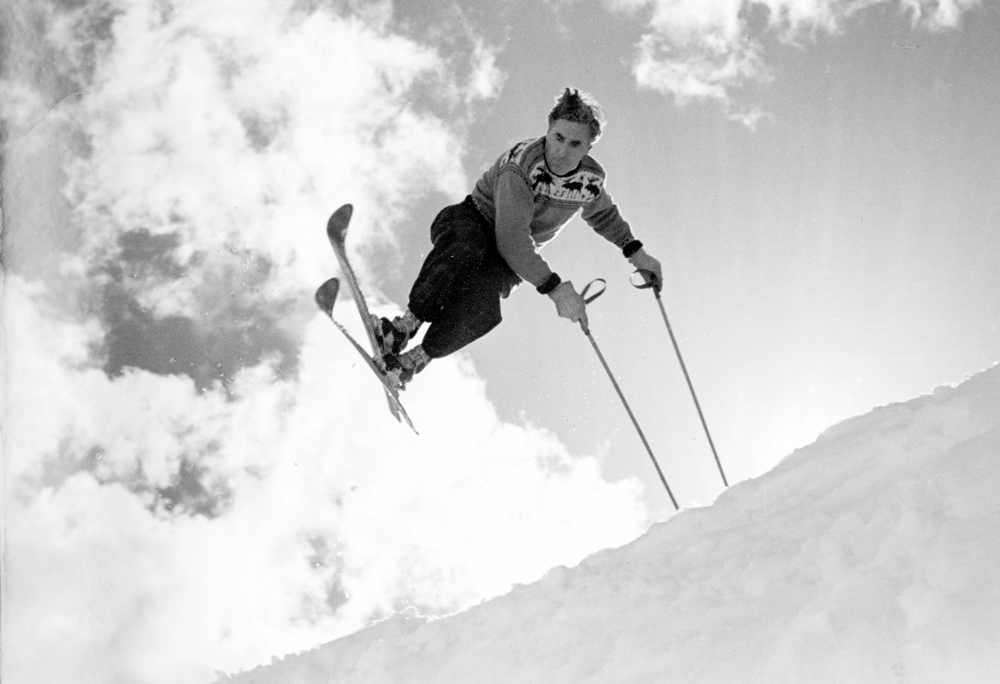 "Hannes appeared in a number of early ski movies in the 1920s and 30s, and was crowned ""Europe's fastest skier"". He had previously been an instructor for the Austrian army during World War I."
