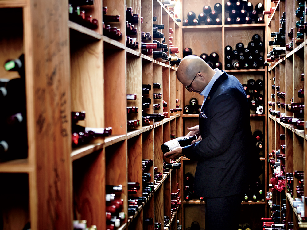 Master Sommelier Carlton McCoy in The Little Nell's cellar