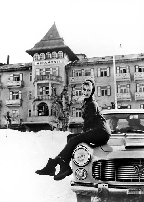 Brigitte Bardot in Cortina, 1958
