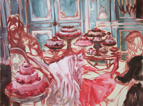 """Let Them Eat Cake""  2006, oil on canvas, 163 x 122 cm"