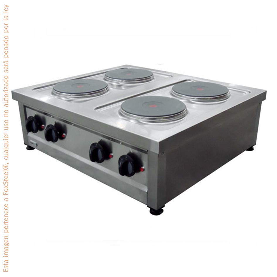 estufa parrilla el ctrica industrial 4 quemadores 220v
