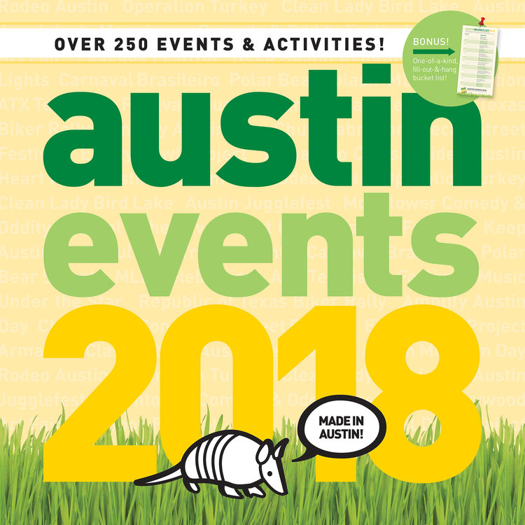 Austin Events Wall Calendar 2018