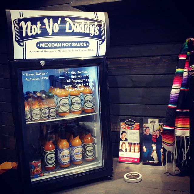 Full fridge including Bold Bonnet and the new Hot Mustard (in collaboration with @straydogakron). Remember we'll give $1 to @unitedwaysummit from each bottle of #boldbonnet sold to support their #boldgoals. . . #noyodaddys #mexicanhotsauce #hotandflavorful #keepingakronhot #scotchbonnet #madeinakron #whynotakron #smallbiz #shoplocal #akron #foodie #foodiegram #hotsauce #entrepreneur #womenownedbusiness #familybusiness #familyrecipe #100yearsbold