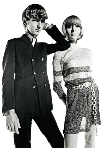 Tara and Nicki Browne in Vogue in November 1966