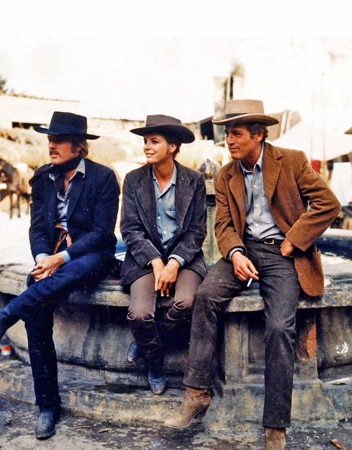 Robert Redford, Katharine Ross and Paul Newman, Butch Cassidy and the Sundance Kid, 1969