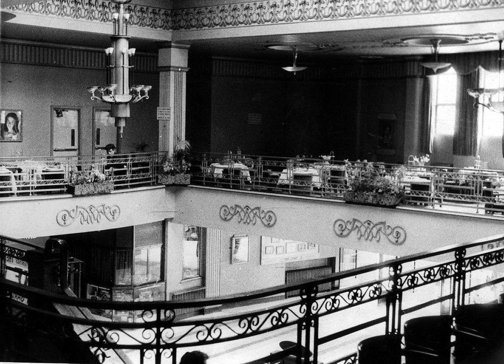 Interior balcony of the Adelphi Cinema, 1960s