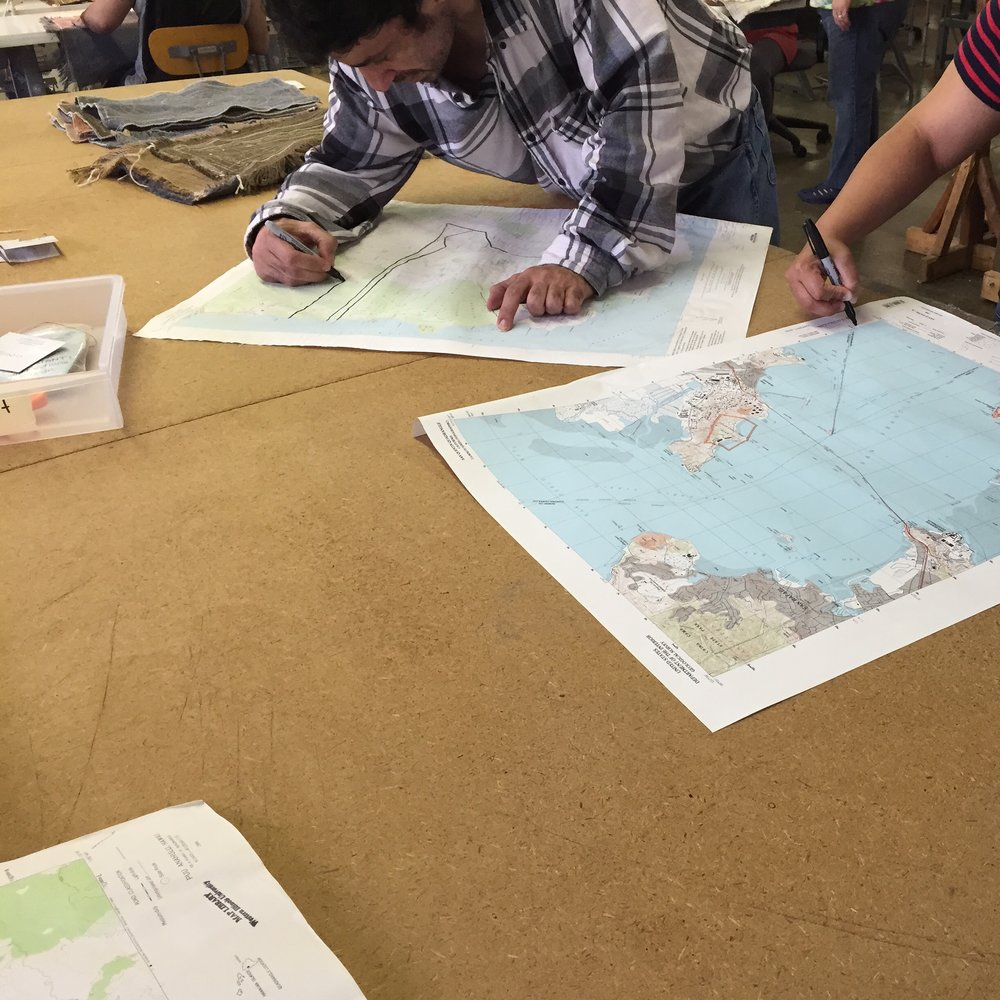 Using maps as line-drawing inspiration