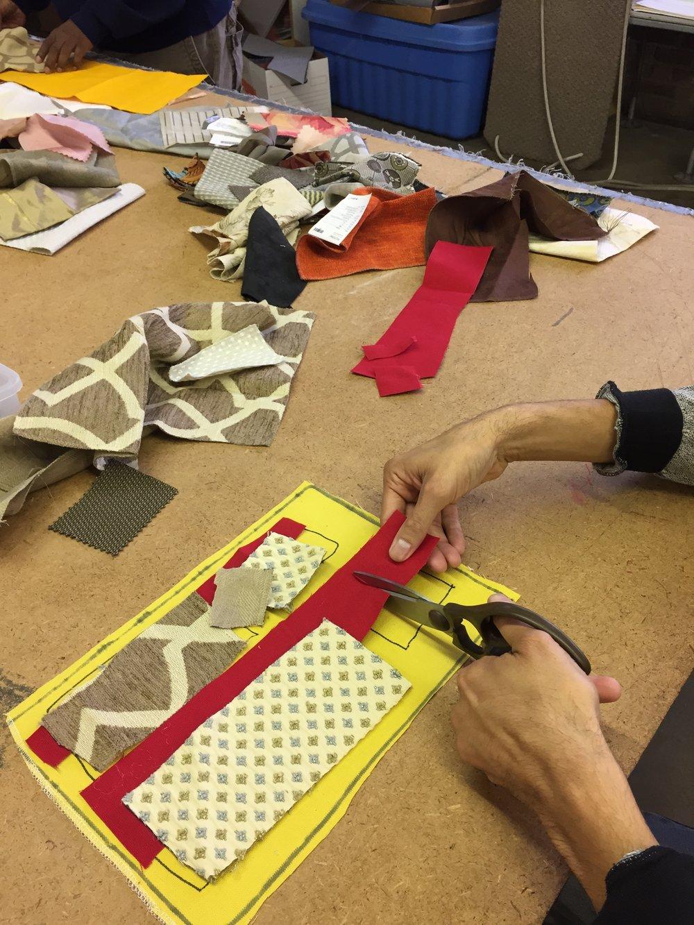 Cutting applique pieces