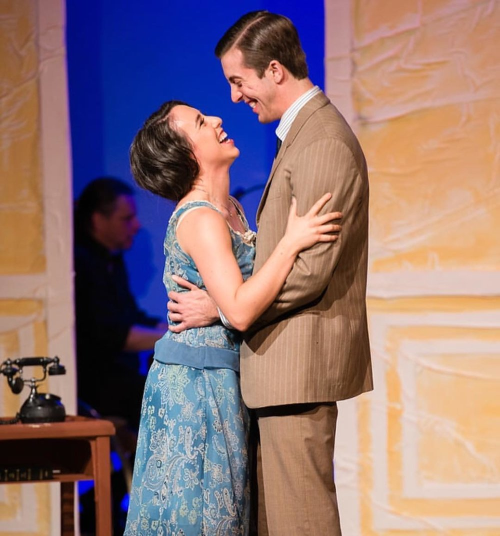 "Samantha Rose and Andrew Mondello as the newly engaged Nanette and Tom in 42nd Street Moon's production of ""No, No Nanette"". *Ben Krantz Photography"