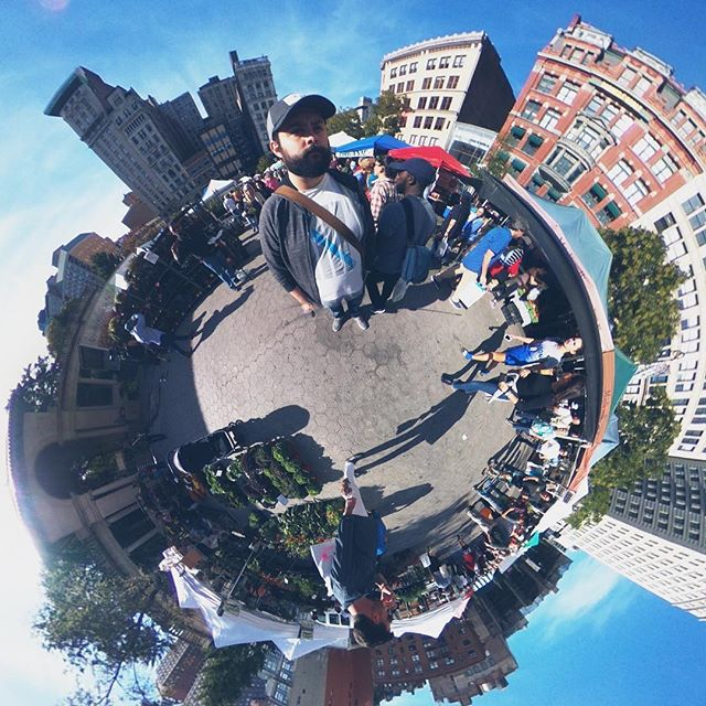 Saturdays at the Union Square farmers market #theta360 #unionsquare #nyc #littleplanet