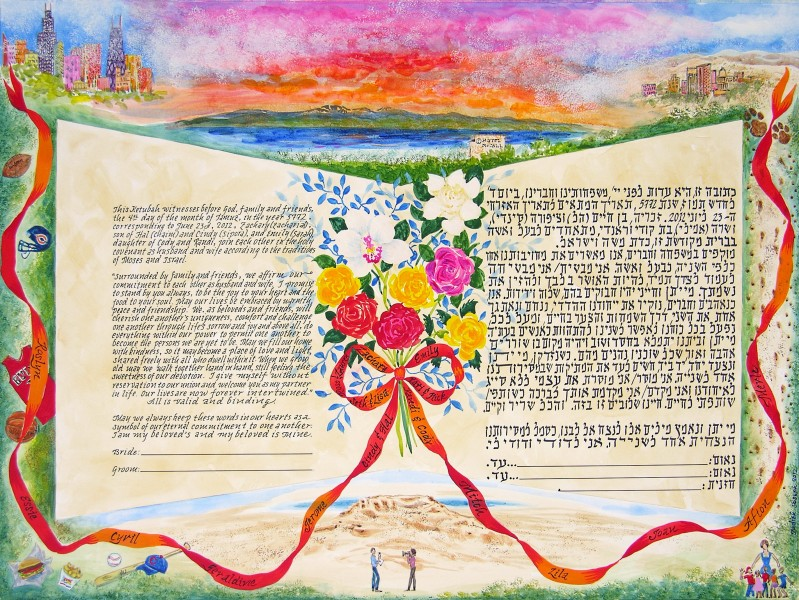 Idaho Sunset Ketubah, Boise, Idaho, 2012