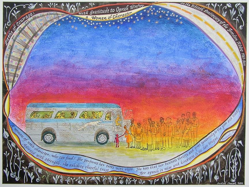 60th Anniversary Gift from Freedom Riders to Oprah Winfrey