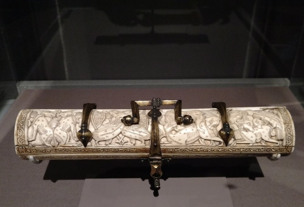 Pen Box, ca. 1200, Amalfi, ivory with copper mounts