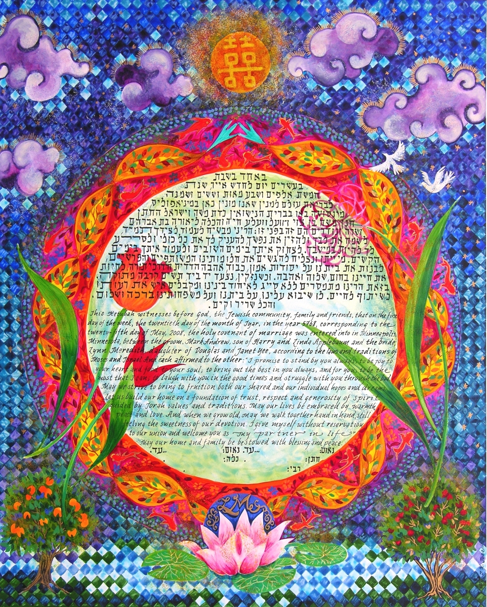 Double Happiness Ketubah, 2008, Minneapolis, Minnesota