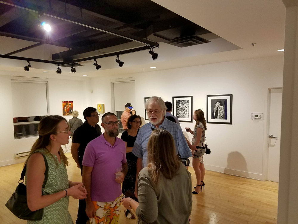 opening reception, two-person exhibit at the Art Center, Highland Park
