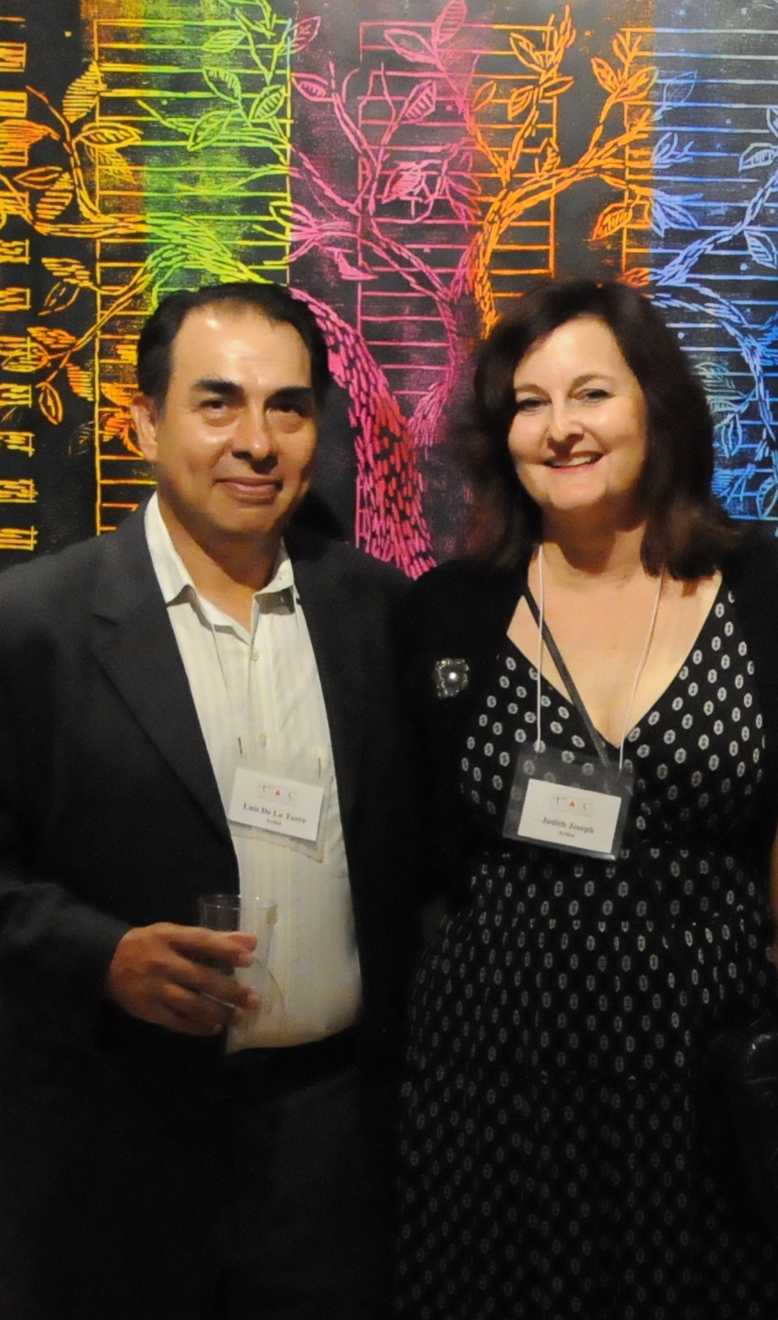 with artist Luis De la Torre at opening of our two-person exhibit at the Art Center, HP