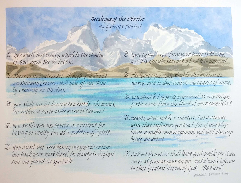 Decalogue of the Artist