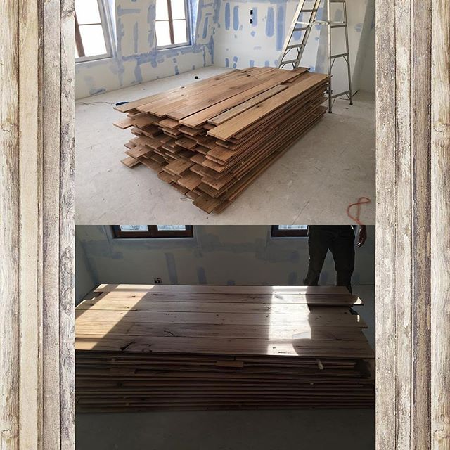 "Thanks for letting us mill some sweet old growth white oak for you!  Repost @noveltywoods ・・・ Gorgeous 7"" old growth white oak reclaimed for Bentley Properties at The Enclave in Atlanta. @thefloorgroup did a fantastic job once again! #noveltywoods #reclaimedflooring #reclaimedwood #oldgrowth #flooring #homedecor #interiordesign #carpentry"