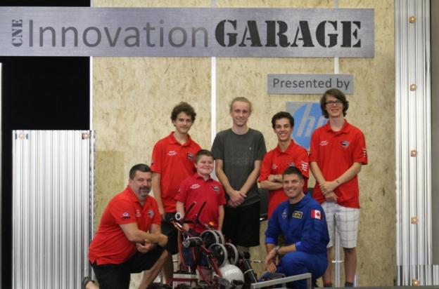 OT Robotics team members meeting Canadian Astronaut Jeremy Hansen