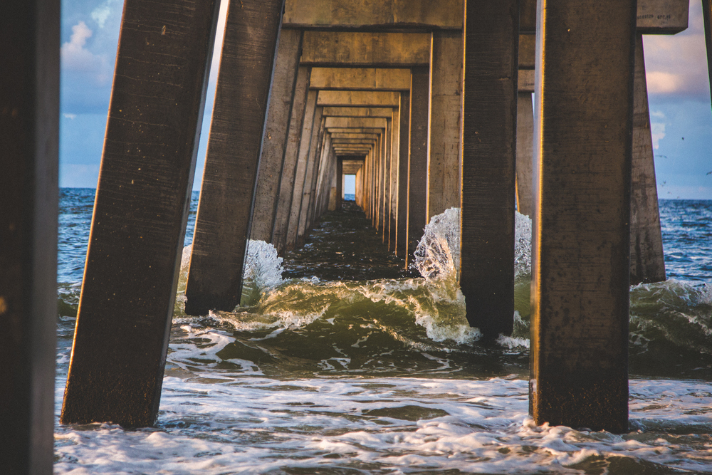 Image of waves at Naples Pier.