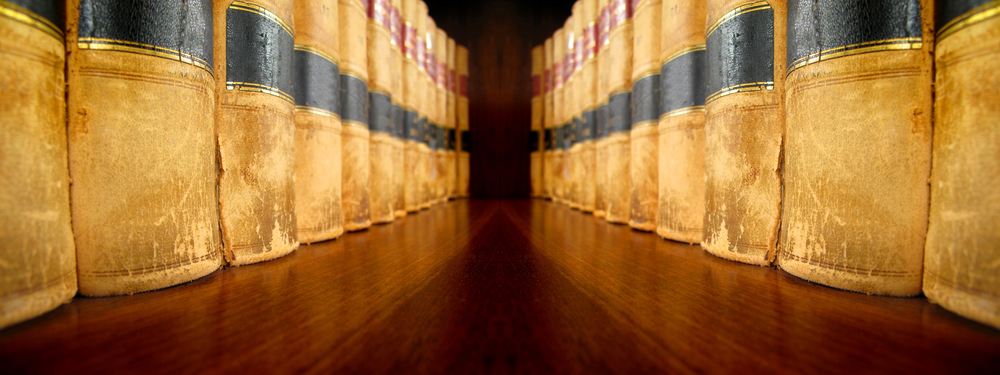 Image of legal books in a line