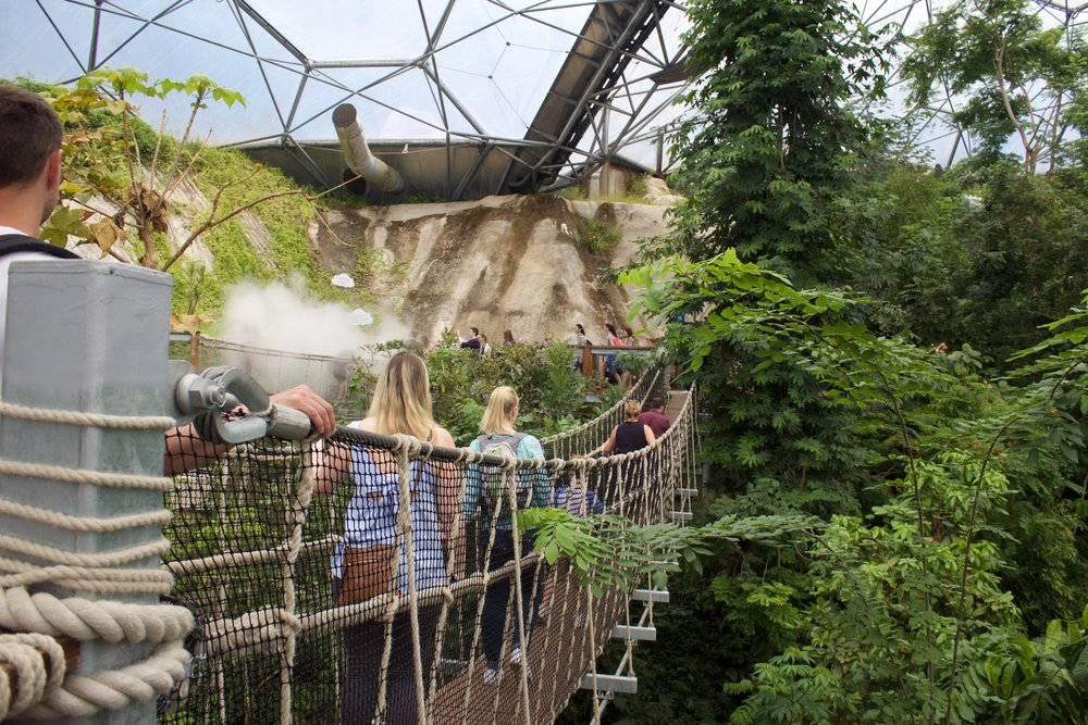 Eden Project research trip highlights! The Weather Maker takes you around and above the tree tops on an immersive journey of discovery. Here we learned more about the rainforest as a weather maker. At the Climate Platform and Weather Station we explored the link between the atmosphere and climate change, and read live weather data! 🌍🌎🌏 © AWA 2017