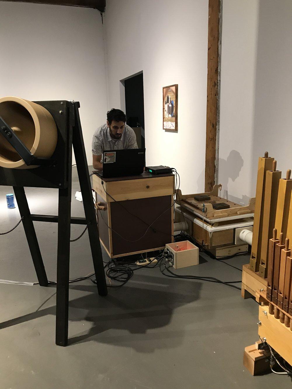 George Rahi -  Organ Installation