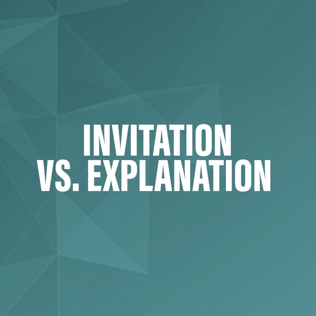 Invitation vs explanation stopboris Images