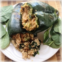 Turkey Stuffed Pablano Peppers
