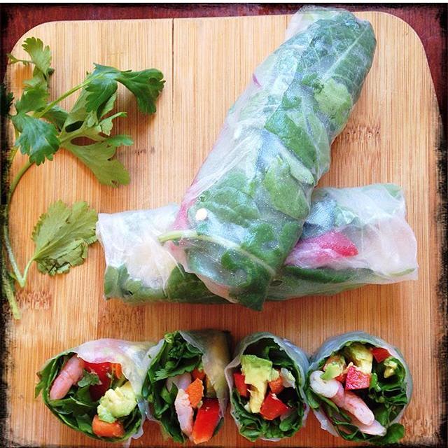 Thai Spring Rolls with Plum Sauce