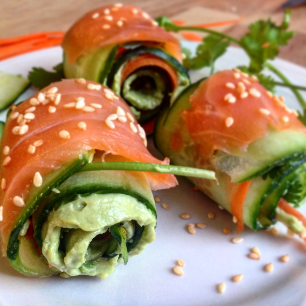 Salmon Cucumber Rols