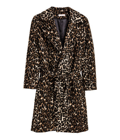 HM Statement Coat Leopard