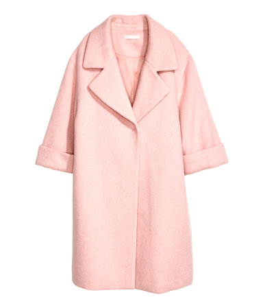 Statement Coat HM Blush Pink
