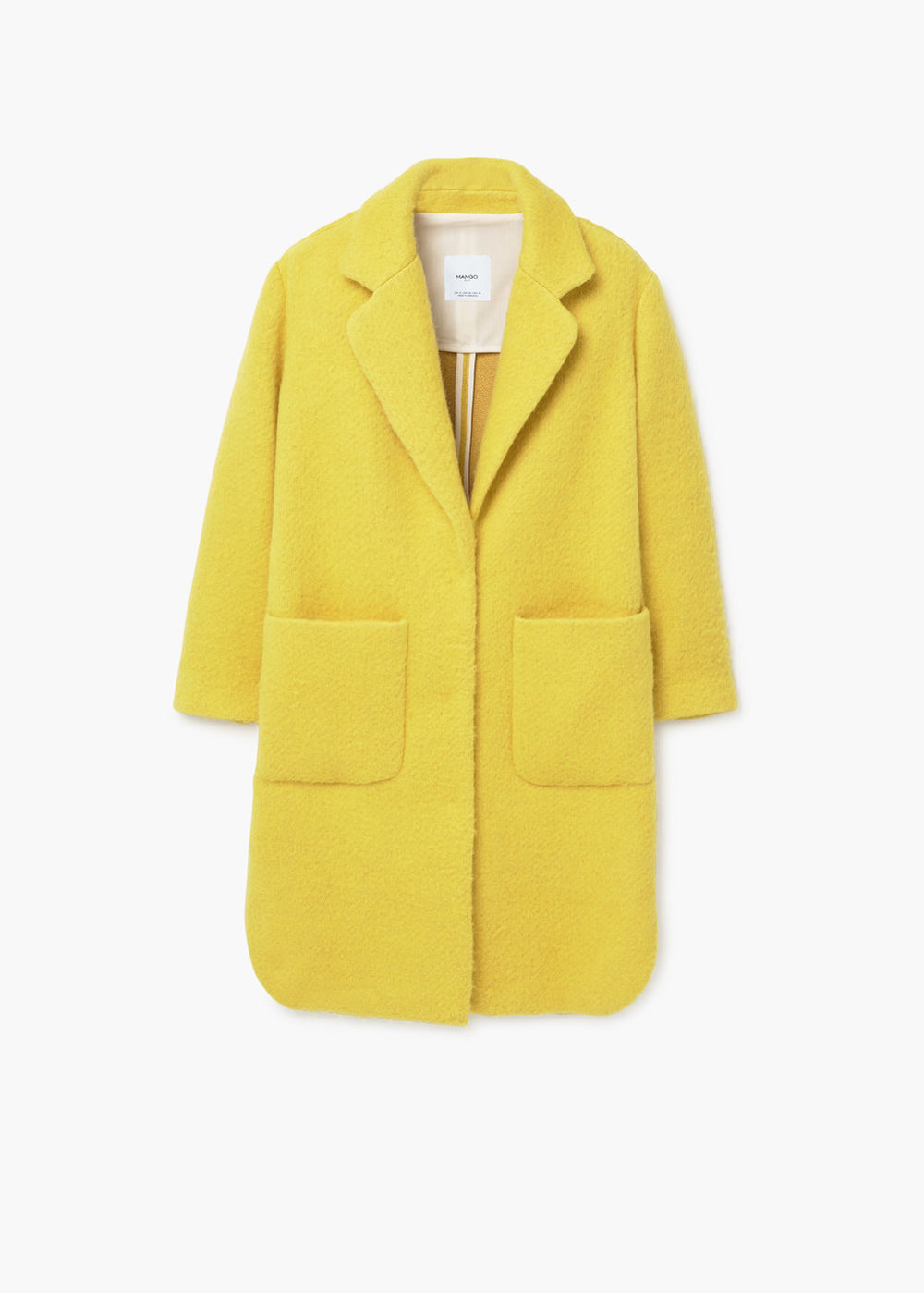 Yellow Mango Statement Coat