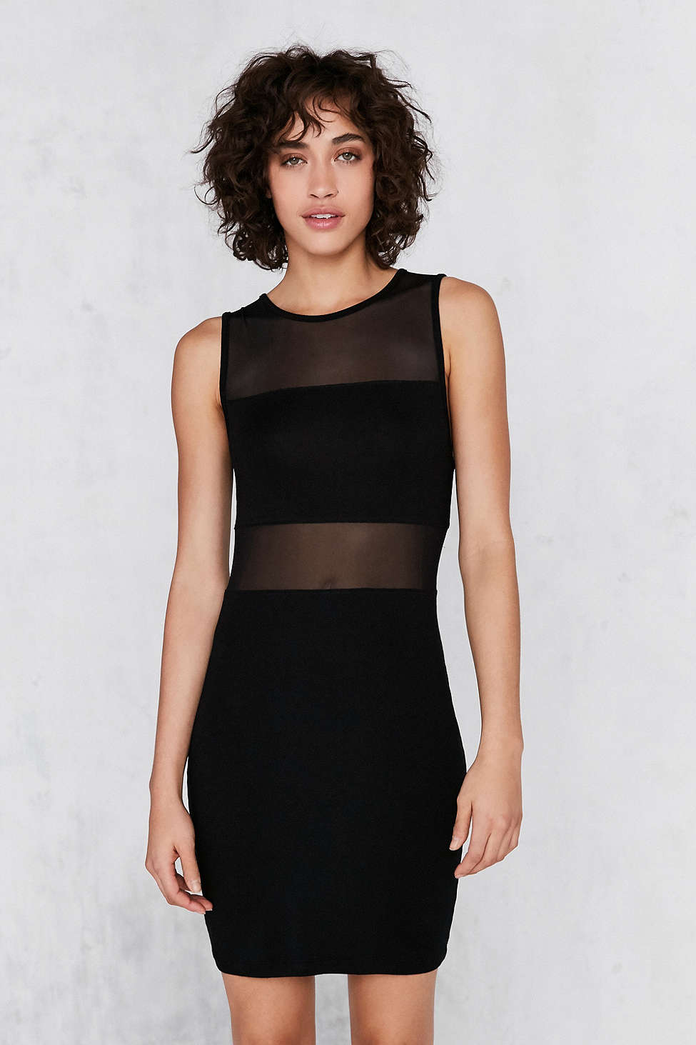 Silence and Noise Mesh Bodycon Dress