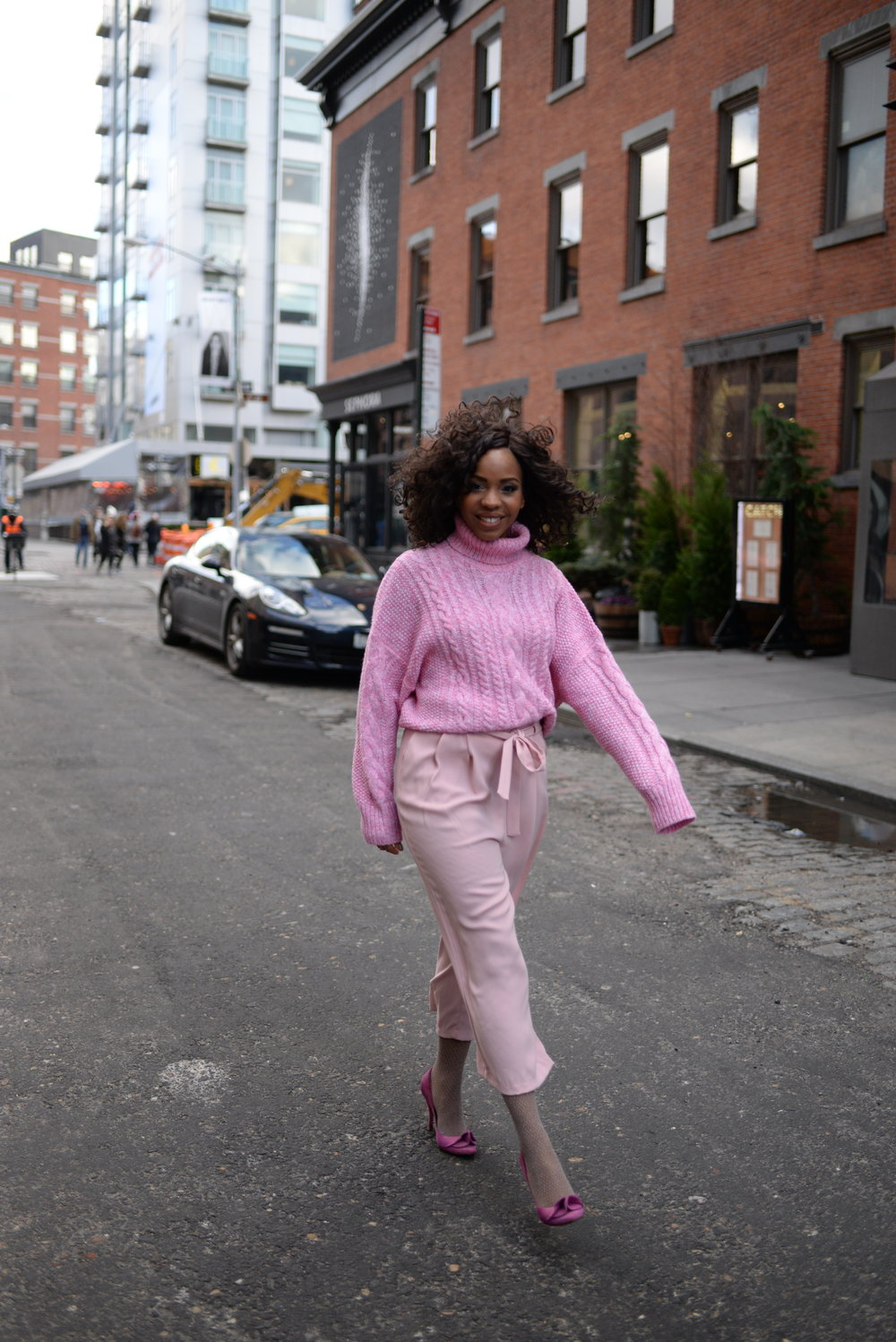 Blush Pink Street Style Look