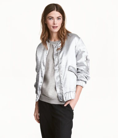 H&M Silver Bomber Jacket